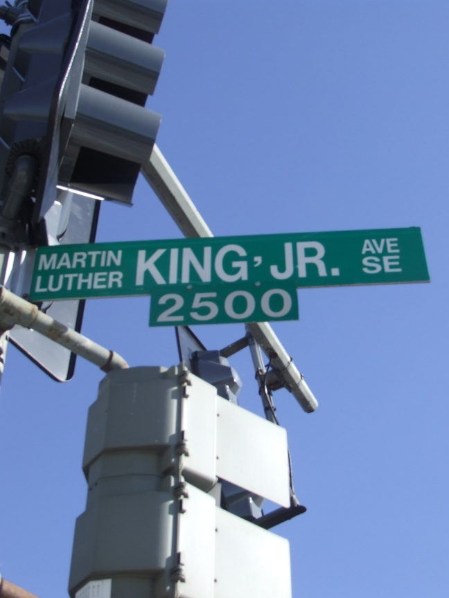 Dr. King's Ave. in South East Washington DC