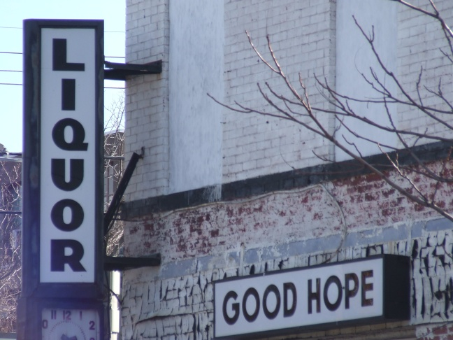 Liquor store. Good Hope.