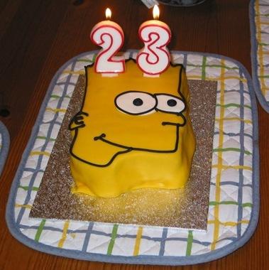 Awe Inspiring Bart Simpson Cake Penns Station Personalised Birthday Cards Veneteletsinfo