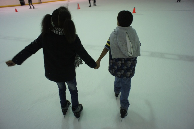 Then they skate.