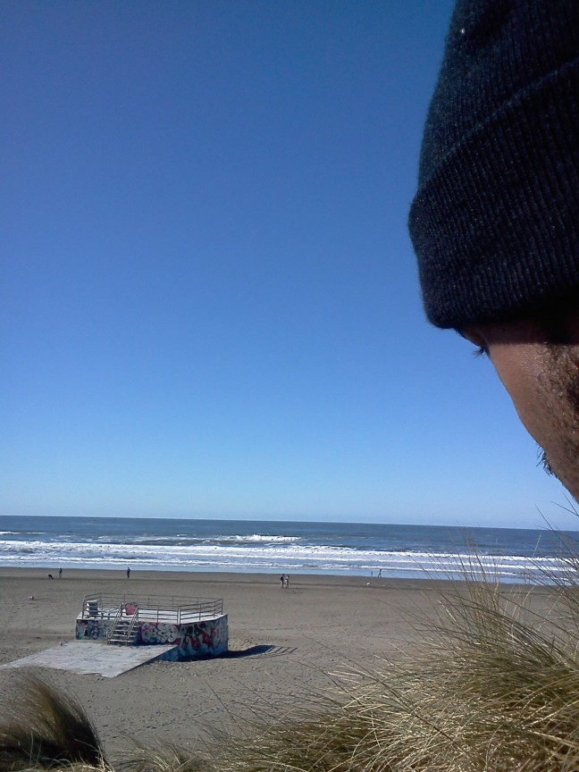 On the beach for MLK Day... let freedom ring.