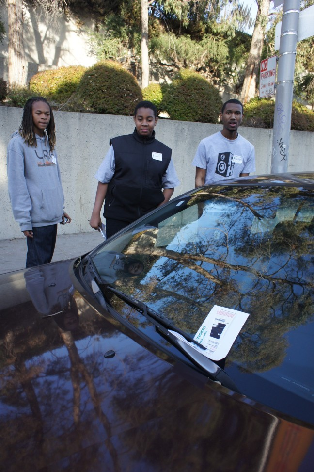 I was awarded a shiny-new parking ticket after taking these young men to get educational resources.