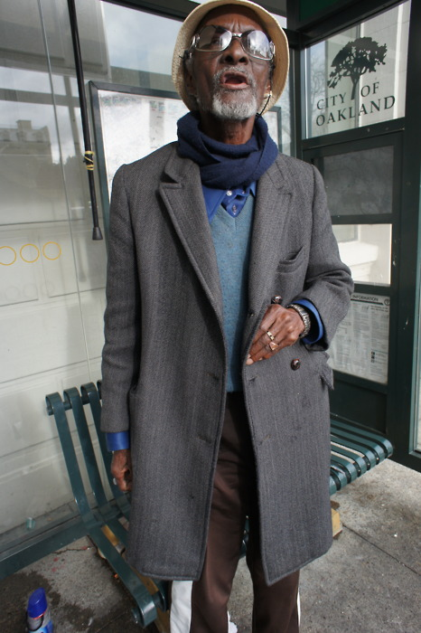 Raymond Bellinger, War vet from New Orleans who sits at the same bus stop all day. When asked about the greatest lessons ever learned, he recited the Lord's Prayer. word for word.